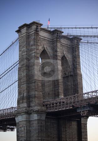 Brooklyn Bridge New York City  stock photo, Brooklyn Bridge New York City by William Perry