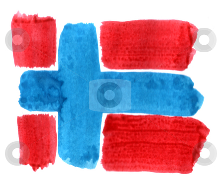 Norway stock photo, Brushed norway flag on white background by J?