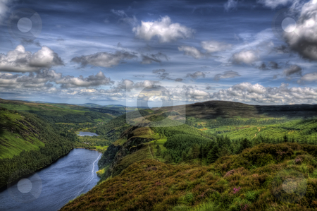 The Valley of the Two Lakes stock photo, A spectacular image of the Valley of The Two Lakes / Glendalough. by Stephen Kiernan