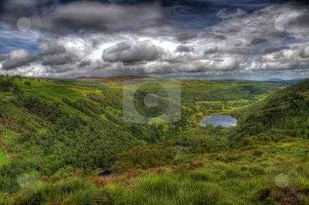 The Green Fields of The Emerald Isle stock photo, Green fields in Co Wicklow in Ireland by Stephen Kiernan