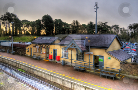 Small train station stock photo, Small train station in Drogheda, Ireland by Stephen Kiernan