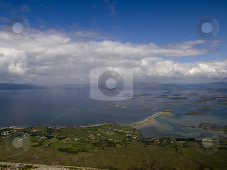 Clew Bay stock photo, Clew Bay from the top of Croke Ptrick in Ireland by Stephen Kiernan