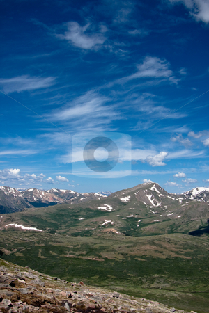 Great View, Blue Sky stock photo, View from the top of a Colorado 14,000 ft mountain by Sharon Arnoldi