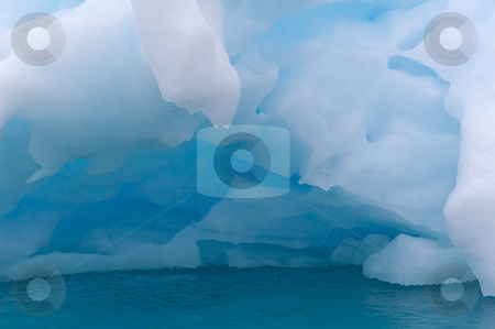 Blue ice stock photo, Blue iceberg in the cold fjord of Narsarsuaq, Greenland by Anders Peter