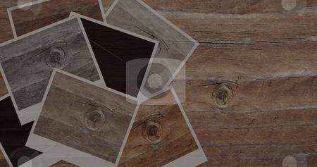 Vintage images monotone stock photo, Wooden vintage image frame in a monotone wooden panel by Karin Claus