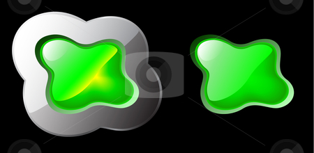 Green gel button stock vector clipart, Organic form of gel button to be different! by danielboom
