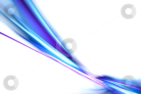 Fractal Swoosh Layout stock photo, A fractal swoosh design with copyspace that works great as a background or backdrop. by Todd Arena