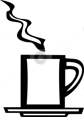 White Coffee Mug stock vector clipart, Smooth white vector image of a coffee mug. by Jeffrey Thompson