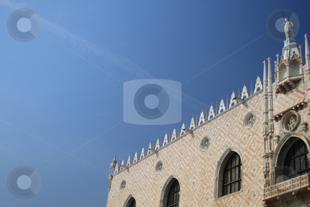 Venice detail stock photo, Venice, Italy: Piazza San Marco building facade detail on a beautiful sunny spring day. by Holger Feroudj