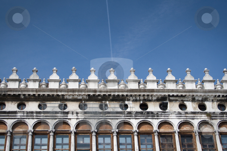Venice library stock photo, Facade of one of the old buildings surrounding Piazza di Marco in Venice, Italy by Holger Feroudj