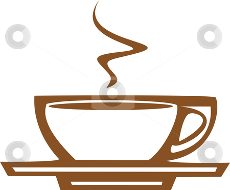 Coffee Cup with Steam stock vector clipart, Basic coffee / espresso cup design good for posters or signs. by Jeffrey Thompson