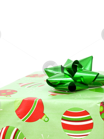 Present Close up stock photo, Present Close up with a white background by John Teeter