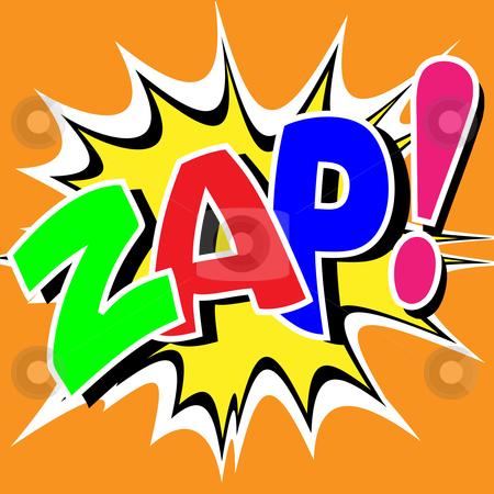 Comic Book Illustration stock vector clipart, A Zap Comic Book Illustration by Binkski Art