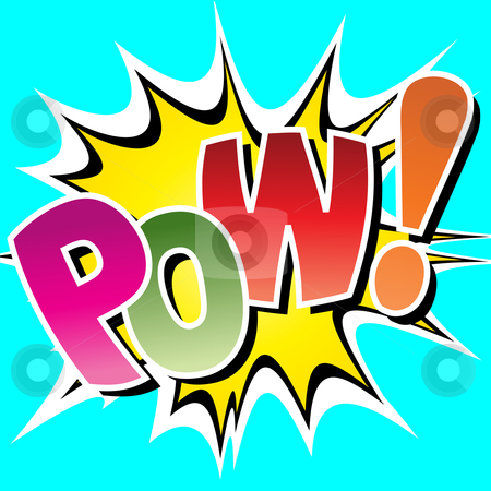 Comic Book Illustration stock vector clipart, A Pow Comic Book Illustration by Binkski Art