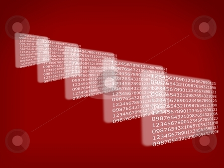 Background Numbers stock photo, Background with number repeating into the distance by Henrik Lehnerer