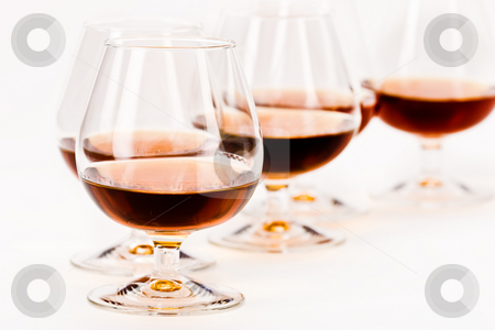 Cognac stock photo, Alcohol drink sereis: some bocal with cognac by Gennady Kravetsky