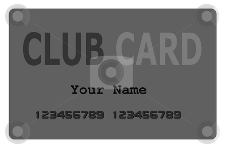 Club Card stock photo, Gray Club Card or Creditcard on white background by Henrik Lehnerer