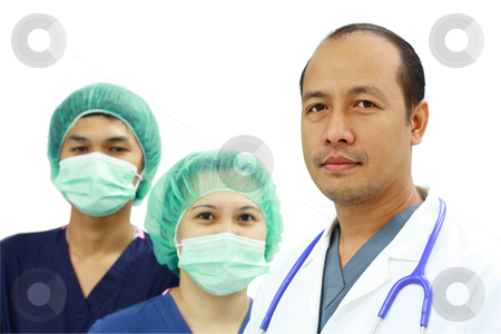 Health professionals stock photo, Asian doctor and nurses by Claro Alindogan