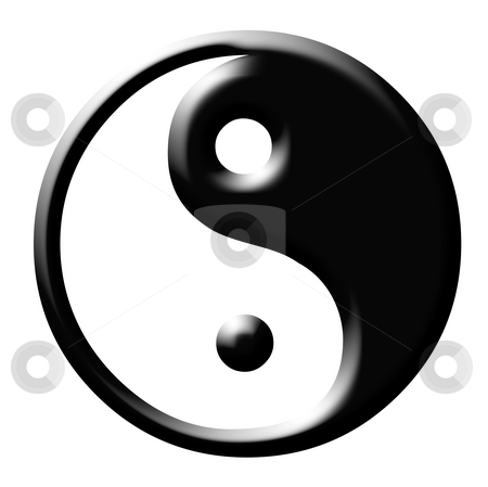 Yin and Yang symbol stock photo, Yin and Yang symbol isolayed on white background. by Martin Crowdy