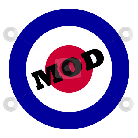 Mod music symbol stock photo, British Royal Air Force roundel, also used as symbol of mod music. by Martin Crowdy