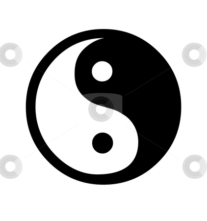 Yin and Yang symbol stock photo, Yin and Yang symbol isolated on white background. by Martin Crowdy