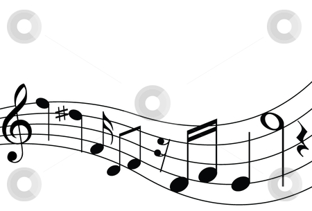 music staff clipart. Musical notes including