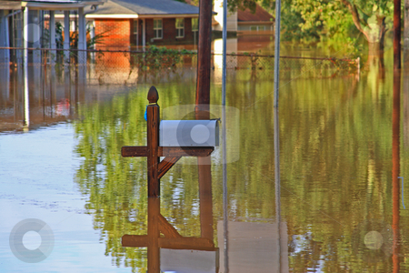 Flood Disaster stock photo, Rains flooding  in subdivision  Austell Ga by Jack Schiffer