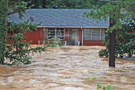 Flood Disaster stock photo, Rains follding bankhead hwy Austell Ga by Jack Schiffer