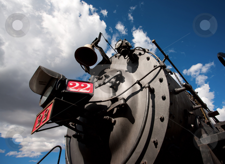 Steam Engine stock photo, Steam engine on a vintage passenger train by Scott Griessel