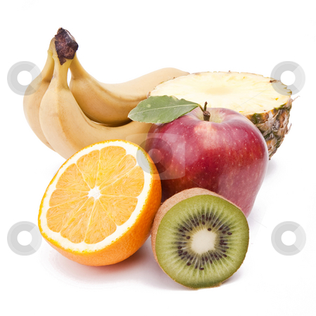 Fruit stock photo, Fruit On White Background by Adam Radosavljevic