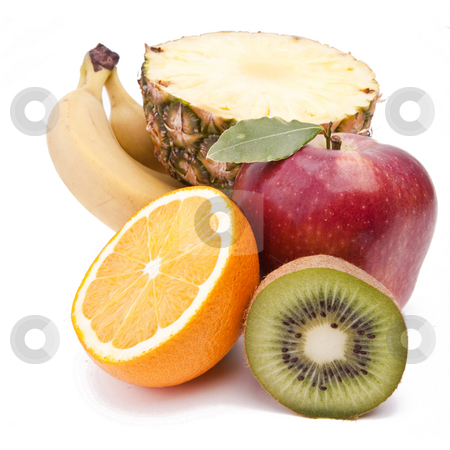 Fruits on white stock photo, Fruits On White Background by Adam Radosavljevic
