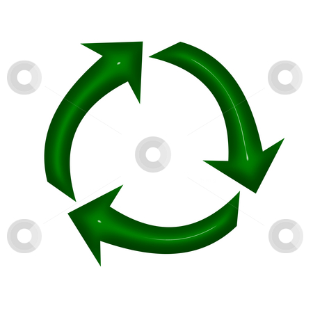 Recycle stock photo, A recycle symbol by Lisa Hebert