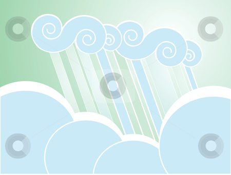 Soft Rain Cloud Background stock vector clipart, Softly colored desktop background with clouds. by Jeffrey Thompson