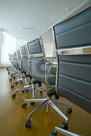 Conference Room stock photo, Board room, office, work place, conference, chairs, table by Adam Radosavljevic