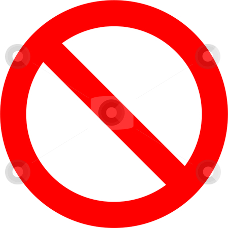 Forbidden Sign stock vector clipart, Forbidden sign isolated over white background by Andre Janssen