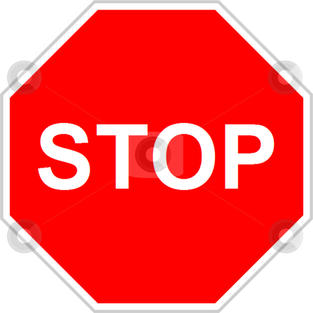 Stop Sign stock vector clipart, Stop sign isolated over white background by Andre Janssen