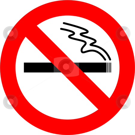 No Smoking stock vector clipart, Smoking forbidden sign isolated over white background by Andre Janssen