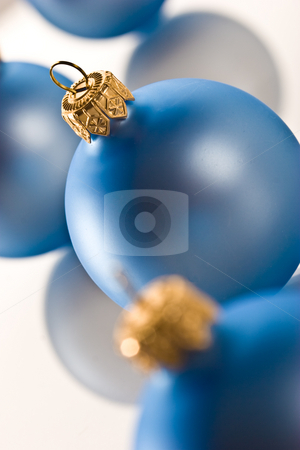 Christmas ball stock photo, Holiday series: some blue blue christms ball by Gennady Kravetsky