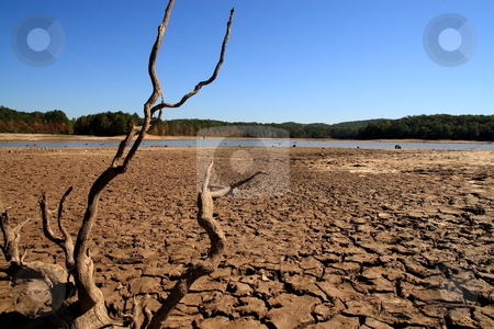 Georgia Drought stock photo, The lake at Sweetwater Creek State Park Lithia Springs GA is one of the sources that Georgia residents are dependent on for drinking water by Jack Schiffer