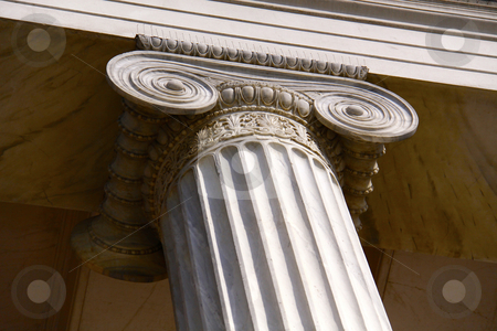 University building pillar in Athens  stock photo,  by Stefanos Kyriazis