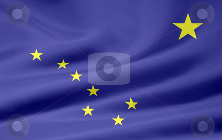 Flag of Alaska stock photo,  by Juergen Priewe