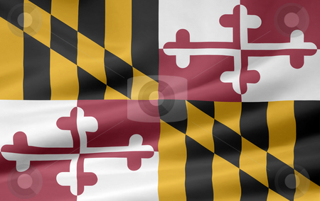 Flag of Maryland - USA stock photo,  by Juergen Priewe