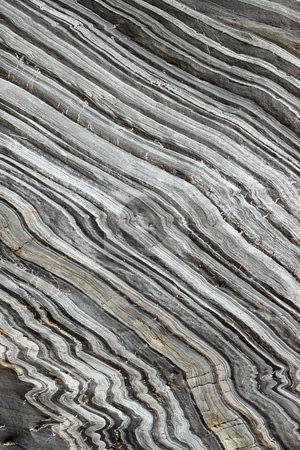 Natural striped rock in Porthleven, Cornwall UK. stock photo, Natural striped rock in Porthleven, Cornwall UK. by Stephen Rees