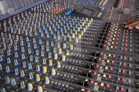Recording studio stock photo, Pro mixing pult at a recording studio by Daniel Kafer