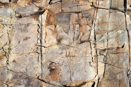 Large eroding rock face close up. stock photo, Large eroding rock face close up. by Stephen Rees