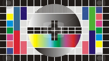 Test Television Screen, 16-9 stock vector clipart, Test Pattern for Wide Screen TV, vector illustration by Čerešňák