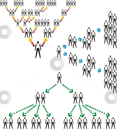 Network Human Structure stock vector clipart, Network structure with icon figure vector illustration by Čerešňák