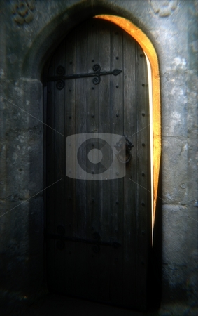 Castle Door stock photo, A mysterious old castle door. by Corey Kruger