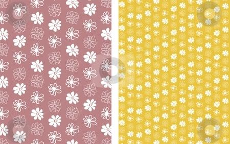 Flower Background 1 stock vector clipart, Floral seamless pattern background element for design vector illustration by Čerešňák