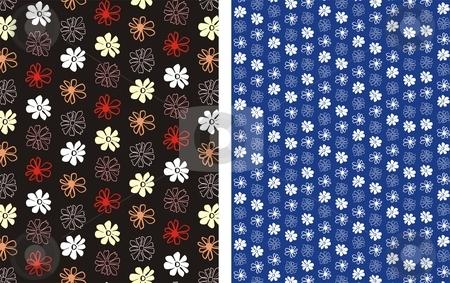 Flower Background 2 stock vector clipart, Floral seamless pattern background element for design vector illustration by Čerešňák